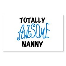 Blue Awesome Nanny Decal