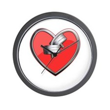 Barbell Heart (red) Wall Clock