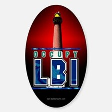 OccupyLBI... Sticker (Oval)