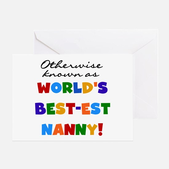 Otherwise Known Best Nanny Greeting Card