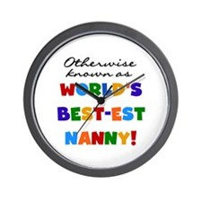 Otherwise Known Best Nanny Wall Clock
