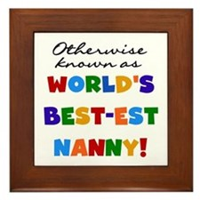 Otherwise Known Best Nanny Framed Tile