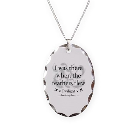 I was there when the feathers flew Necklace Oval C