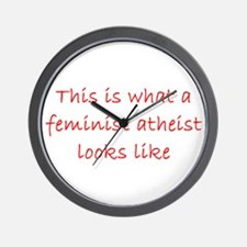 Cute Freethought Wall Clock