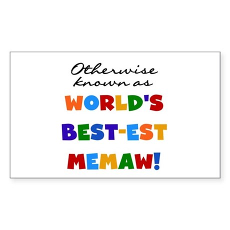 Otherwise Known Best Memaw Sticker (Rectangle)