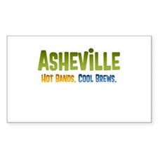Asheville. Hot bands. Decal
