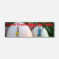 Farm Fresh Eggs For Sale Car Magnet 10 X 3