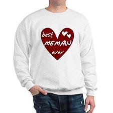Heart Best Memaw Ever Sweatshirt