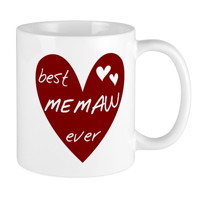 Heart Best Memaw Ever Mug By Peacockcards
