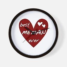 Heart Best Memaw Ever Wall Clock