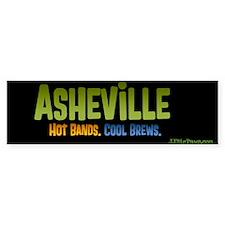 Asheville. Hot bands. Bumper Sticker