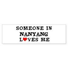 Someone in Nanyang Bumper Bumper Sticker