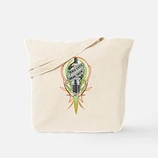 Pinstriped spark plug Tote Bag