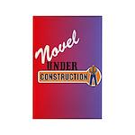 Novel Under Construction Rectangle Magnet (100 pac