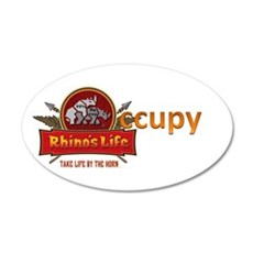 Rhino's Life Occupy 22x14 Oval Wall Peel