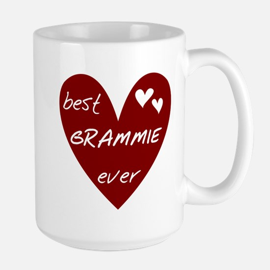 Heart Best Grammie Ever Large Mug