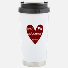 Heart Best Grammie Ever Stainless Steel Travel Mug