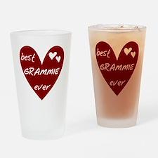 Heart Best Grammie Ever Drinking Glass
