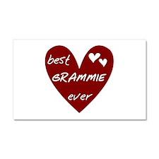 Heart Best Grammie Ever Car Magnet 20 x 12