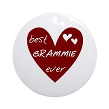 Heart Best Grammie Ever Ornament (Round)