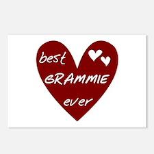 Heart Best Grammie Ever Postcards (Package of 8)
