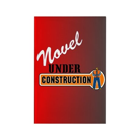 Novel Under Construction Rectangle Magnet (10 pack