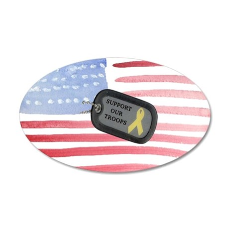 Support Our Troops 20x12 Oval Wall Decal