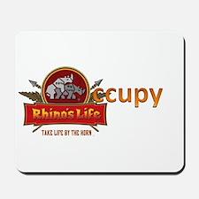 Rhino's Life Occupy Mousepad