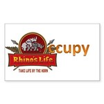 Rhino's Life Occupy Sticker (Rectangle 10 pk)