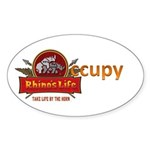 Rhino's Life Occupy Sticker (Oval 50 pk)