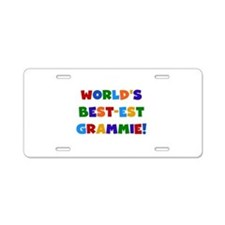 Grammie Bright Colors Aluminum License Plate