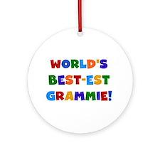Grammie Bright Colors Ornament (Round)