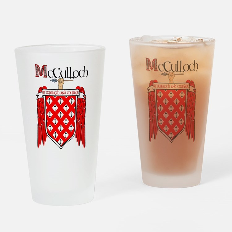 McCulloch Coat of Arms Drinking Glass