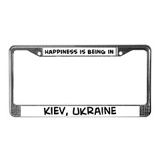 Happiness is Kiev License Plate Frame
