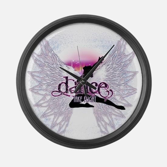 Crystal Dancer Large Wall Clock