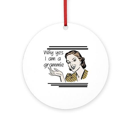 Retro Grammie Ornament (Round)