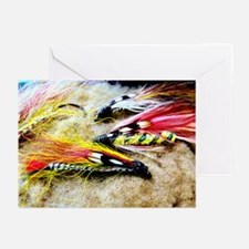 FLY FISHING LURES Greeting Cards (Pk of 20)