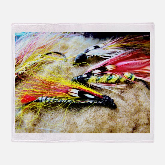 FLY FISHING LURES Throw Blanket
