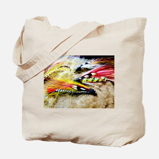 FLY FISHING LURES Tote Bag