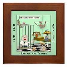 Animal Activist Lou's Lab Framed Tile
