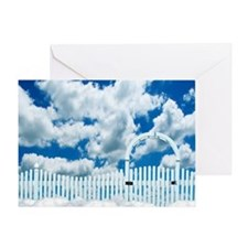 HEAVENS GATE Greeting Card