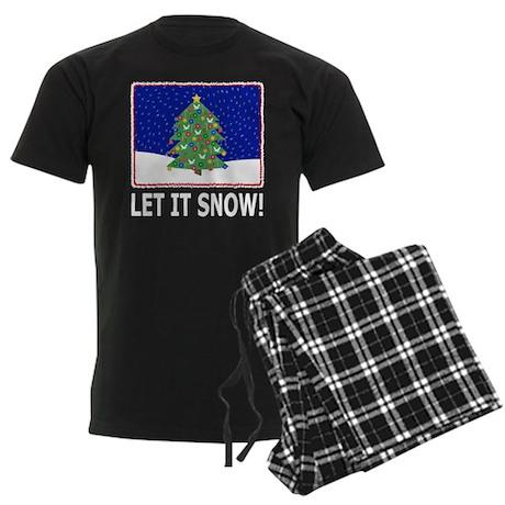 Let It Snow Men's Dark Pajamas