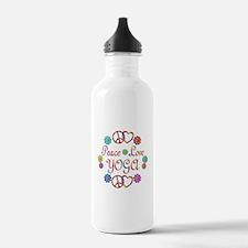 Peace Love Yoga Water Bottle