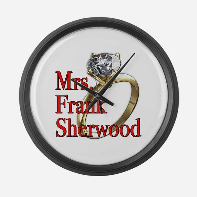 Army Wives Mrs. Frank Sherwood Large Wall Clock