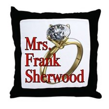 Army Wives Mrs. Frank Sherwood Throw Pillow