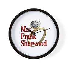 Army Wives Mrs. Frank Sherwood Wall Clock