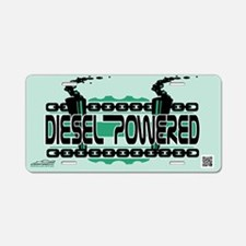 Diesel Powered Aluminum License Plate