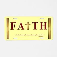 Faith Aluminum License Plate