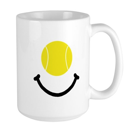 Tennis Smile Large Mug