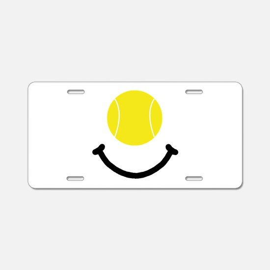 Tennis Smile Aluminum License Plate